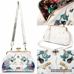 Irregular Choice Magic Unicorn Kisslock Bag NWT